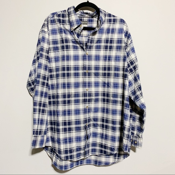 St. John's Bay Other - 🛍St. John's Bay Blue & White Plaid Button Down